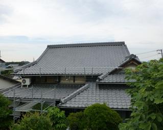 ⑥屋根工事完成