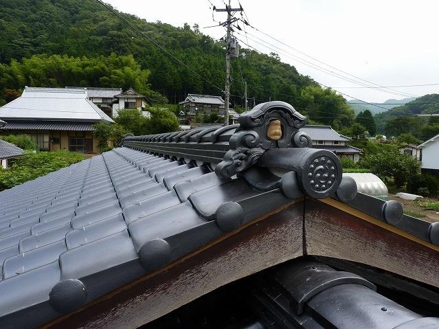 和風建築の象徴 屋根棟部分