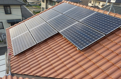 太陽光発電設備工事 民家のケース 岡山市中区関 N様邸