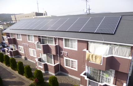 太陽光発電設備工事 コーポのケース 津山市上河原 F様邸