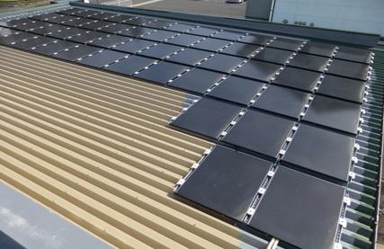 太陽光発電設備工事 倉庫のケース 津山市