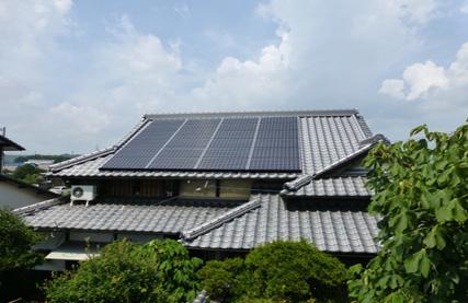 屋根工事+太陽光発電設備工事 民家のケース② 瀬戸内市