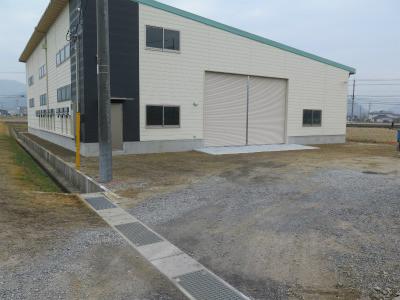 第二倉庫完成資材納入日