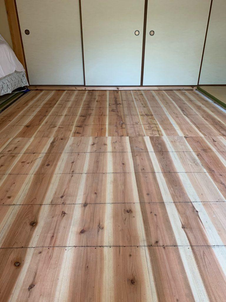 施工事例:床の張り替え