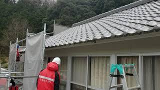 塗装工事⇒樋掛け…雨漏れの原因にならぬよう【動画】