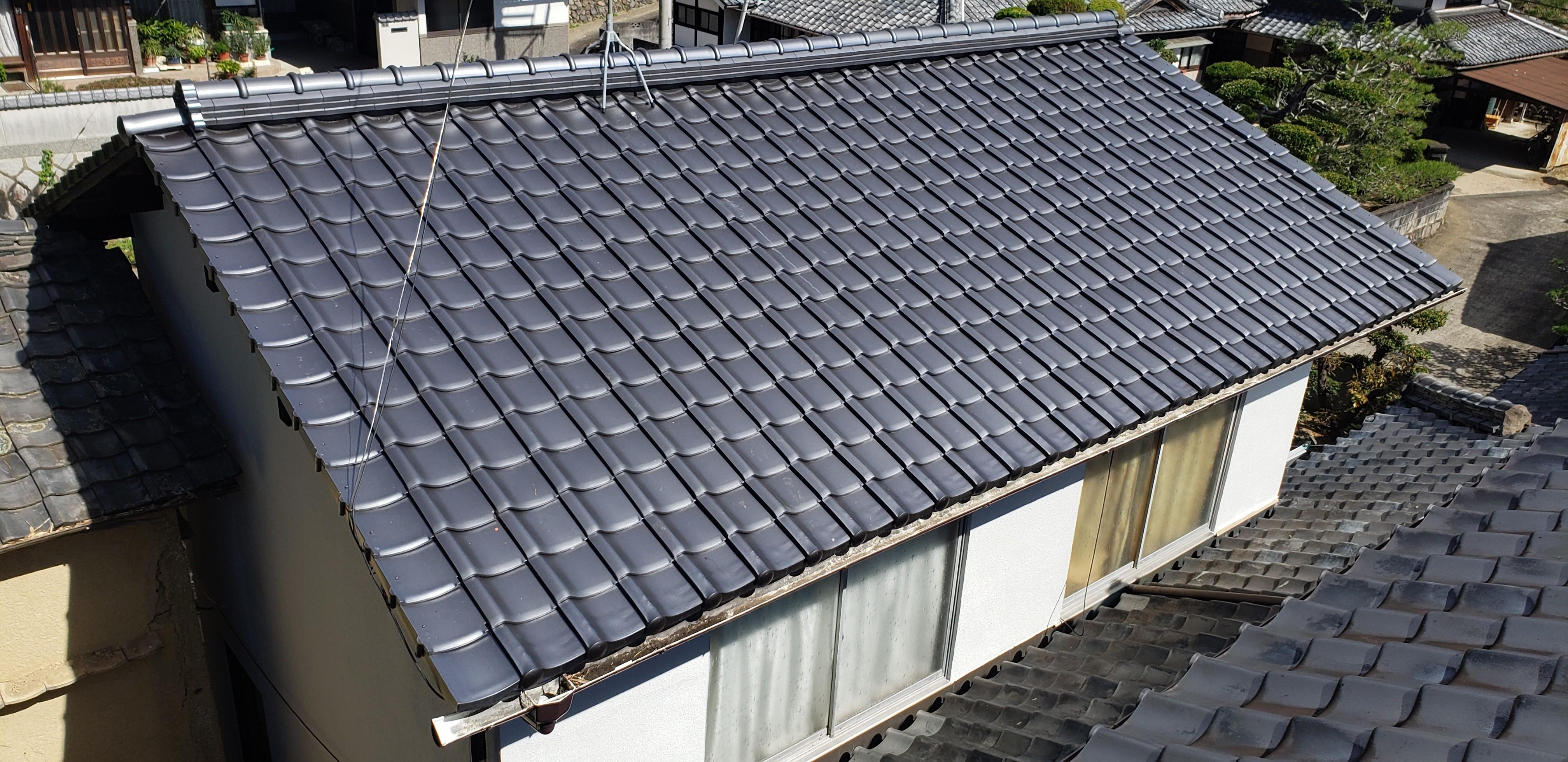 屋根替え&外壁塗装 施工事例