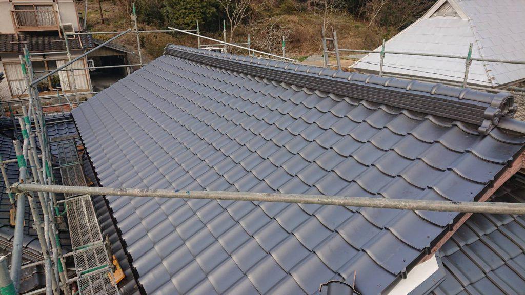 施工事例:長屋屋根葺き替え工事