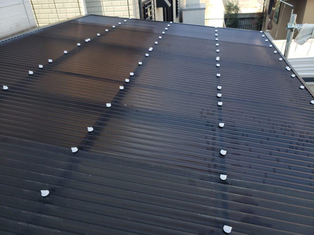 施工事例:波板張り・基礎補修