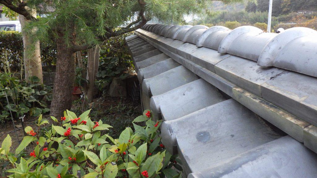 施工事例:塀の瓦
