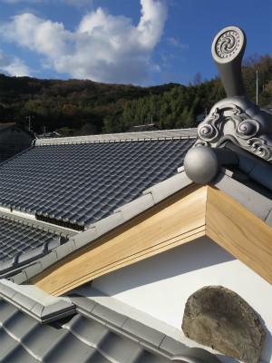 西中織物 屋根