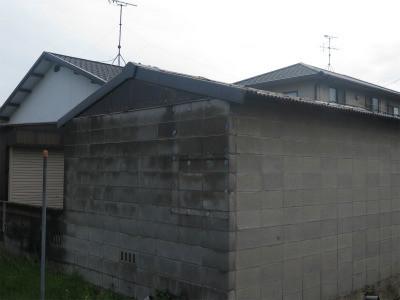 スレート屋根前