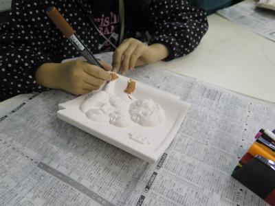 干支瓦塗り体験