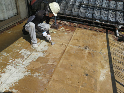 陸屋根 防水工事 施工