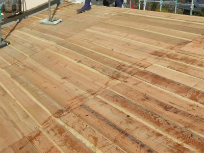 屋根板 張替