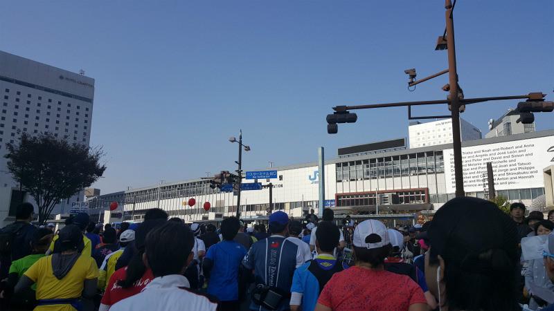 おかやまマラソン 岡山駅
