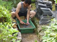 おちゃむの『よろこびの庭』-片山様邸 屋根瓦清掃