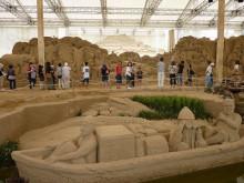 おちゃむの『よろこびの庭』-砂の美術館