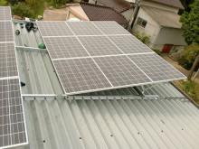 おちゃむの『よろこびの庭』-折板屋根 設置