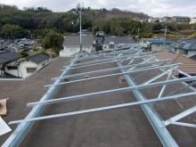 おちゃむの『よろこびの庭』-太陽光発電設置 陸屋根⑥