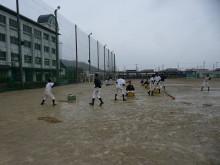 おちゃむの『よろこびの庭』-城東野球練習風景