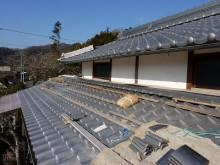 おちゃむの『よろこびの庭』-吉村文博様 屋根板撤去