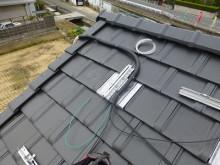 おちゃむの『よろこびの庭』-太陽光発電 配線結束