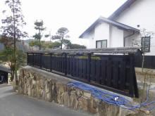おちゃむの『よろこびの庭』-吉村様邸 杉皮塀