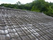 おちゃむの『よろこびの庭』-セメント瓦 大屋根