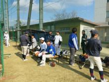 2014 ob野球ベンチ様子