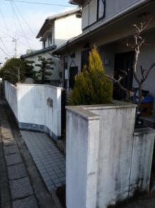 おちゃむの『よろこびの庭』-茅切様 塀 前①